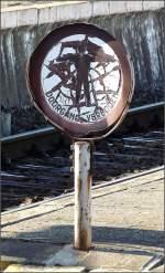 Bahnhofsschilder/11553/dieses-schild-im-bahnhof-gent-sint Dieses Schild im Bahnhof Gent Sint Pieters hat auch schon bessere Zeiten erlebt. 14.02.09 (Jeanny)