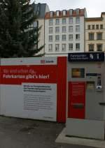 am Bahnsteig/40401/wann-der-naechste-zug-faehrt-mag Wann der nächste Zug fährt mag niemand einzusätzen, aber der Fahrkartenautomat steht und funktioniert schon an der neuen S-Bahn Haltestelle Leipzig Markt... 10.11.2009