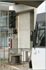 Signale und Sicherheitstechnik/135412/ausfahrt-mit-40-kmh-zeigt-das 'Ausfahrt mit 40 km/h' zeigt das Signal N1 in Konstanz dem Thurbo GTW.  8. April 2011