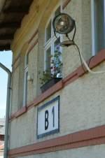 Signale und Sicherheitstechnik/23378/ein-scheinwerfer-bringt-in-dunklen-stunden Ein Scheinwerfer bringt in dunklen Stunden Licht ins Betriebsgeschehen. Stellwerk B 1 in Sassnitz im Juni 2009