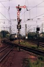 Signale und Sicherheitstechnik/7398/formsignal-fotografiert-in-rheine-04-08-1992 Formsignal fotografiert in Rheine 04-08-1992.