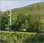 signale-und-sicherheitswesen/147970/fahrt-frei-zeigt-das-ausfahrsignal-in 'Fahrt frei' zeigt das Ausfahrsignal in Corfe Castle am 9 Mai 2011.