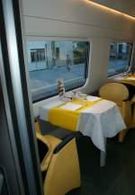 Reisezugwagen/27356/blick-in-speiseabteil-des-etr-610 Blick in Speiseabteil des ETR 610  (Aus Rücksicht auf andere Reisende war es kaum möglich einen besseren Ausschnitt zu wählen)