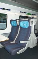 Reisezugwagen/27357/erste-klasse-im-etr-610aus-ruecksicht Erste Klasse im ETR 610. (Aus Rücksicht auf andere Reisende war es kaum möglich einen besseren Ausschnitt zu wählen)