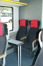 Reisezugwagen/28135/ein-blick-ins-1-kl-abteil Ein Blick ins 1. Kl. Abteil des Travys DOMINO.  6. August 2009