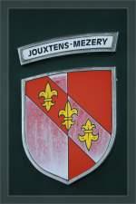 Embleme und Wappen/156335/das-nicht-nicht-mehr-ganz-taufrische Das nicht nicht mehr ganz taufrische Wappen am LEB Be 4/4. 13.03.2011
